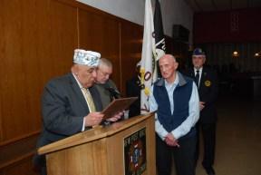 Al Zaragosa awarding Ray Wojtak