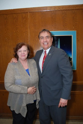 Virginia Proffitt and Jim Balcer, 11th ward Alderman