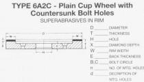 6A2C Plain Cup Wheel