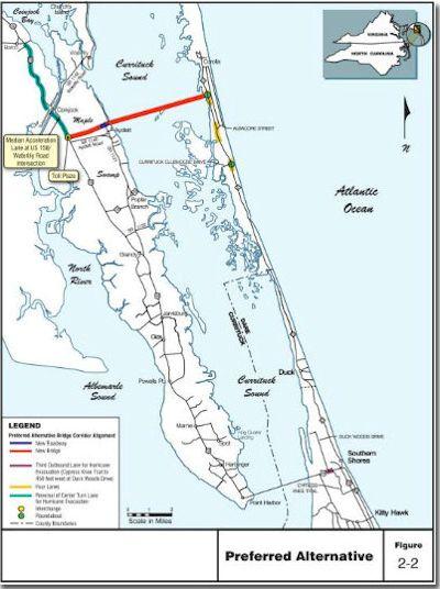 north carolina outer banks map