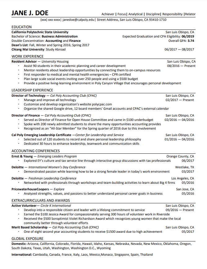 college transfer resume examples