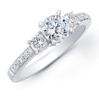 Ring Settings: Engagement Ring Settings 3 Stone