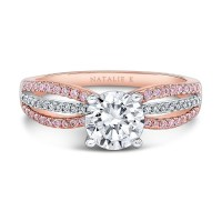 18k RG Pink-White Diamond Ring NK28687PK-18WR