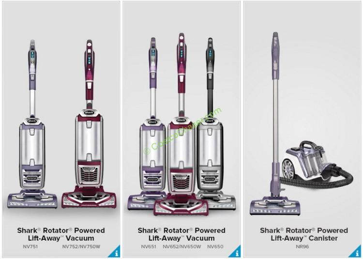 compare all models of shark rotator liftaway vacuums