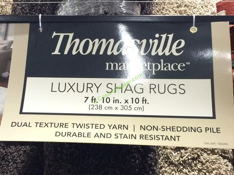 Thomasville Luxury Shag Rug Home Decor