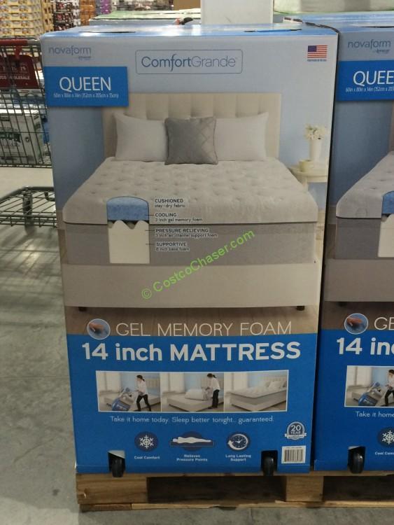 novaform queen 14u201d mattress gel memory - Novaform Mattress