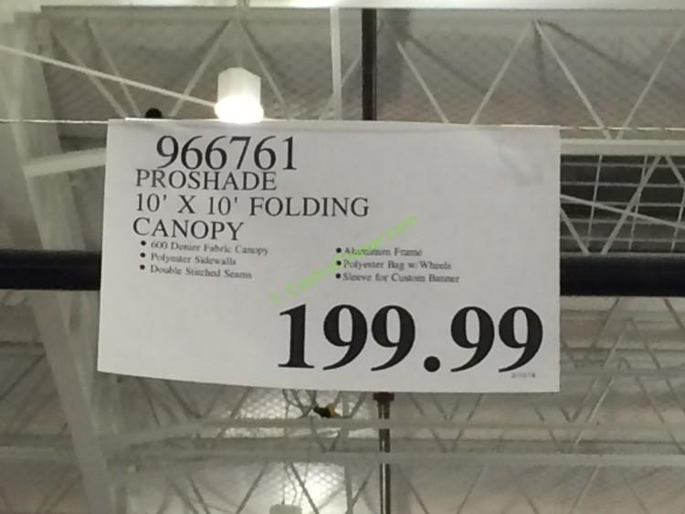 costco-966761-proshade-10-10-folding-canopy-tag & Proshade 10u2032 x 10u2032 Folding Canopy u2013 CostcoChaser
