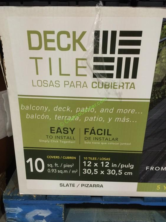 Costco 885812 Multy Home Deck Tile 10pack Spec