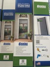 Genius retractable screen door costcochaser for Inside mount retractable screen door