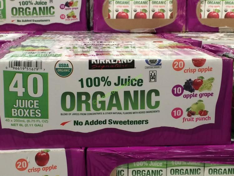 Kirkland Signature Organic 100 Juice Box 40 675 Ounce