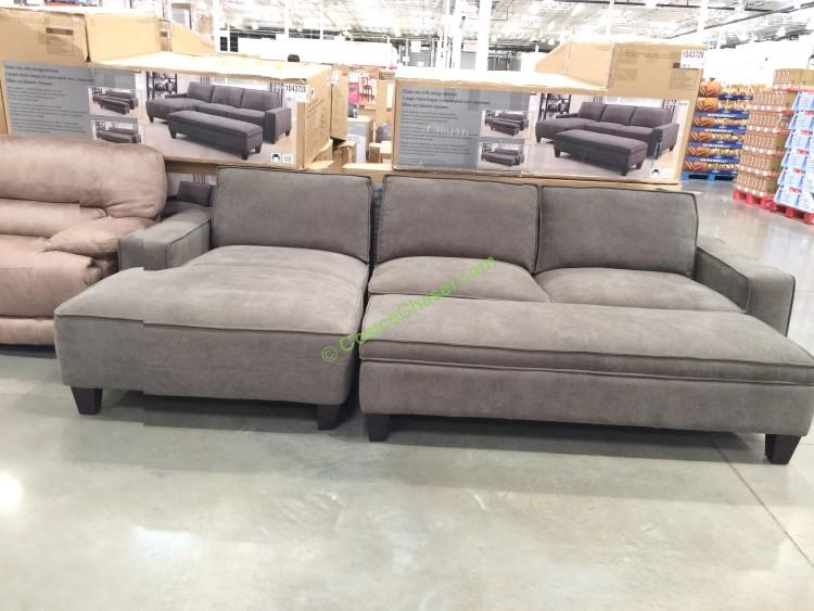 Fabric Sectional with Storage Ottoman : sectional costco - Sectionals, Sofas & Couches
