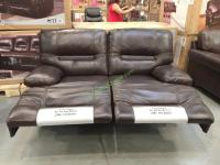 Costco Leather Reclining Sofa Cheers Clayton Motion ...