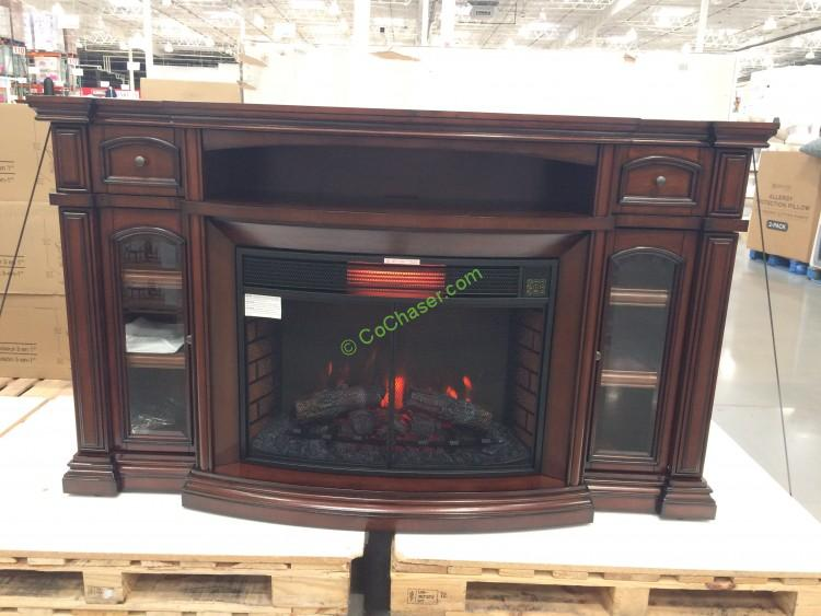 Well Universal 72 Electric Fireplace Media Mantle