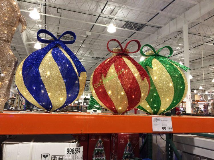 Oversized Ornaments, Set of 3 u2013 CostcoChaser - costco christmas decorations