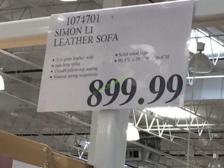 Simon Li Leather Sofa – CostcoChaser