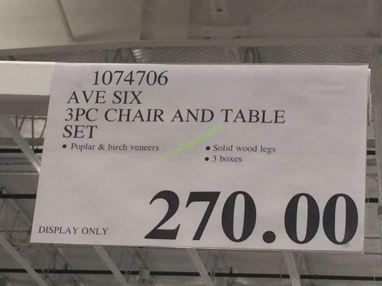 ave six 3pc chair and table set - Costco Folding Table
