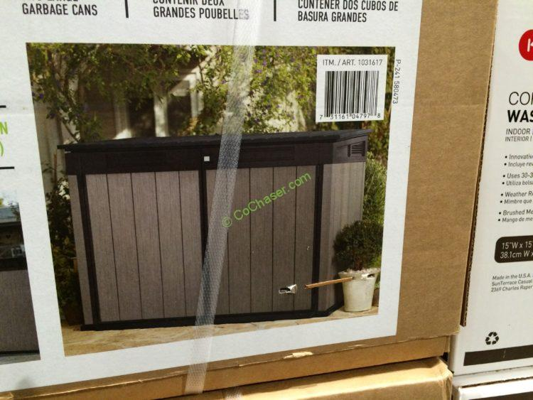 Costco 1031617 Keter Horizontal Resin Shed Pic