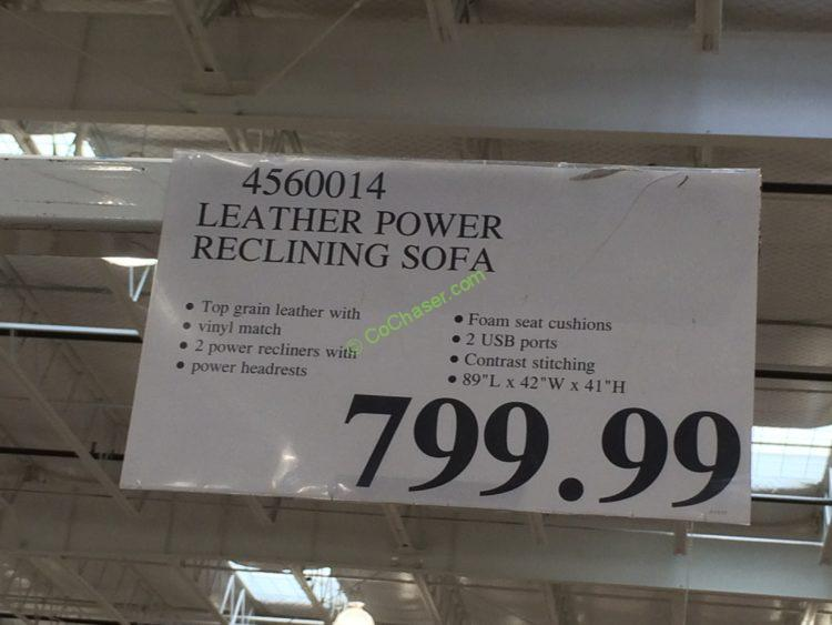 Costco-4560014- Leather-Power-Reclining-Sofa-tag & Leather Power Reclining Sofa u2013 CostcoChaser islam-shia.org