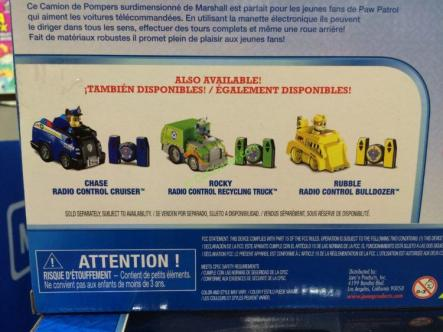 Costco-1140423-Paw-Patrol- RC-Vehicles-Chase -Marshall-1