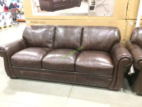 Costco-1049174-1049175-Simon-Li-Leather-Sofa- Loveseat