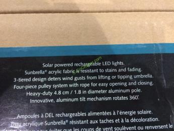 Costco-1500165-ProShade-11'-LED-Solar- Aluminum-Market-Umbrella-spec