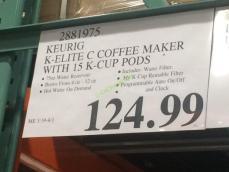 Costco-2881975-Keurig-K-Elite-C-Single-Serve-Coffee-Maker-tag