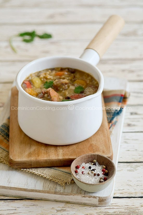 Chambre (caldo de legumbres, arroz y carne)