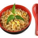 Ricos Fideos integrales en salsa de Zanahoria