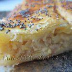 Tarta de cebollas, Queso batido 0% y Semillas de Amapola