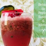 Para refrescar la piel: Bebida de Pepino, Sandía y Menta