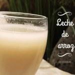 Preparar leches vegetales: Leche de Arroz