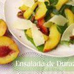 Ensalada de Duraznos (Melocotones) con Aderezo de Limón y Menta