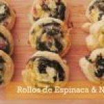 Rollitos de Espinacas con Nueces: aperitivo navideño