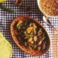 Carne de Res (ternera) con Verduras y Plátano