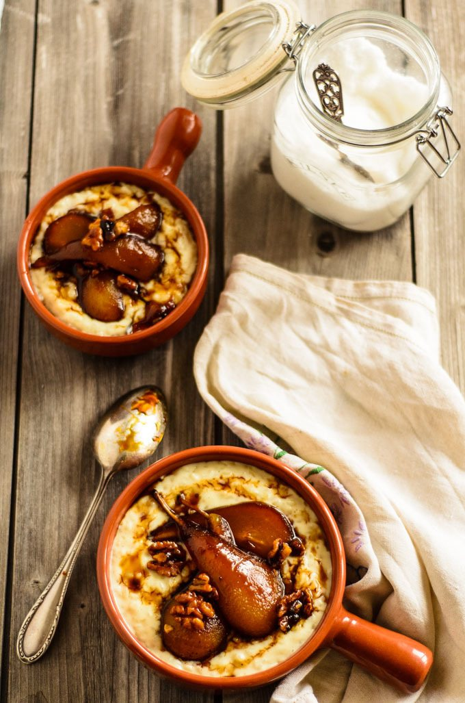 Creamy ginger rice pudding – Pearl rice cooked in an infusion of ...