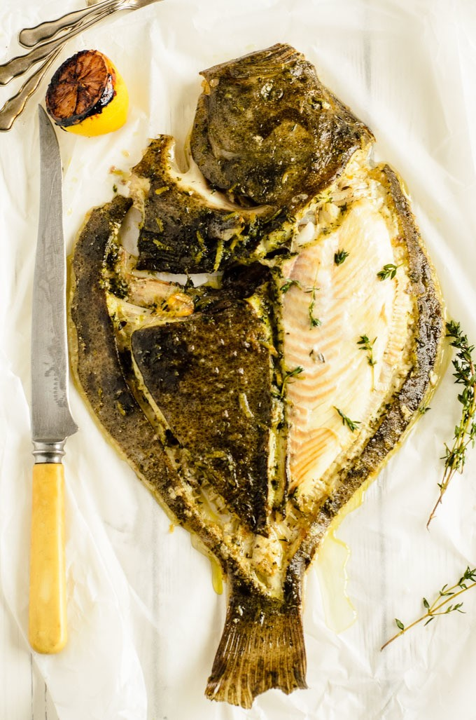 Slow roast turbot in lemon thyme and anchovy oil for Turbot fish price