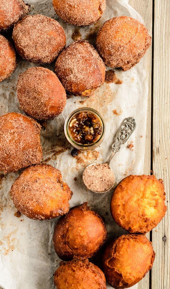 brioche mincemeat doughnuts