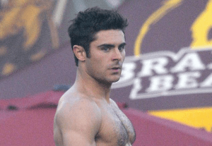 MAN CANDY: Zac Efron Shirtless & Touching Himself On Set Of New Film