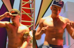 Pair Of Go-Go Dancers Thrust Their Hips – And Prominent Bulges – On Stage [NSFW]
