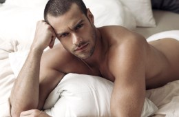 MAN CANDY: Portuguese Guess Model Goncalo Teixeira Goes Commando in Bed