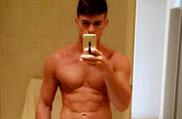 MAN CANDY: Geordie Shore's Gaz Gives Fans an Eyeful with Bulging Selfie