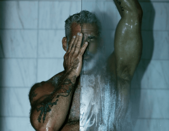 MAN CANDY: Silver Fox Anthony Varreccia Soaps up in Steamy Shower Shoot [NSFW]