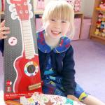 Livvy also got her first guitar today! Thank you wickeduncletoyshellip