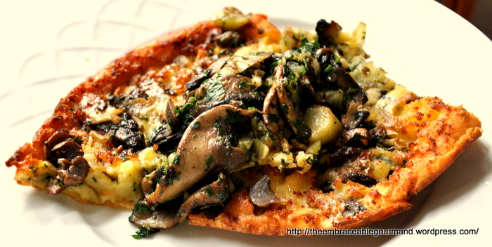 Savory Portobello Mushroom and Fennel Dutch Baby Pancake