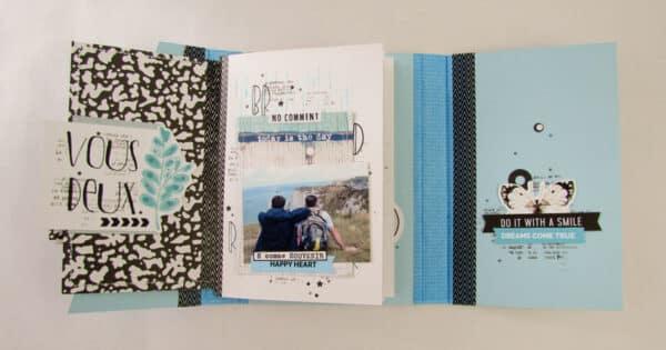 Inspiration Tuesday- Blue (scrapbook process video) Cocoa Daisy