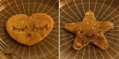 Coco&Me - Buttermilk Pancake recipe with step-by-step pictures of the process - heart & star motif - www.cocoandme.com