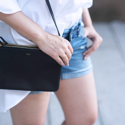 coco-and-vera-top-vancouver-fashion-blog-top-canadian-fashion-blog-top-blogger-outfit-details-american-eagle-denim-shorts-celine-trio-bag-marled-blouse-madewell-rings