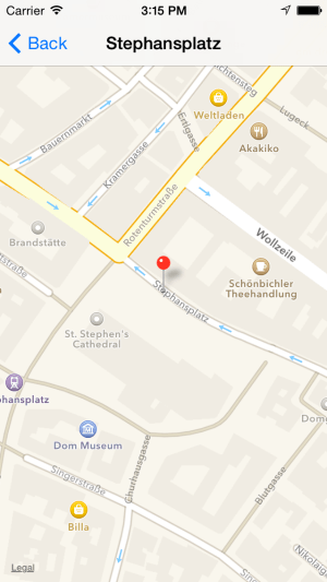 Search Result on Map