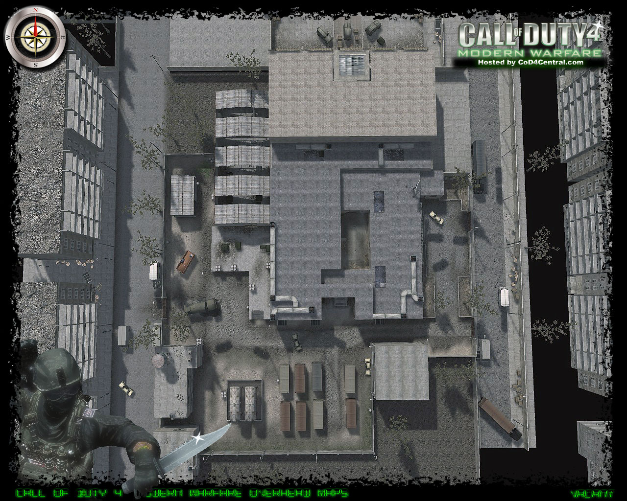 Mw3 3d Wallpapers Cod4 Central Cod4 Maps Vacant High Resolution Modern