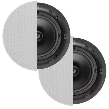 Q Acoustic 6.5 inch in-ceiling speakers for hi-fi sound